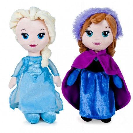 Peluche Frozen Elsa y Ana 25 cm.