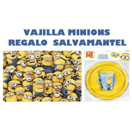 Vajilla Minions + Salvamantel