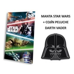 Manta Polar Star Wars + Cojín