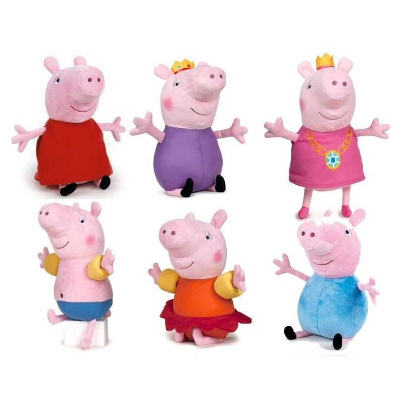 comprar peluches peppa pig venta online peluchilandia. Black Bedroom Furniture Sets. Home Design Ideas