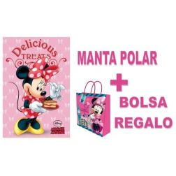 Manta Polar Minnie con Bolsa Regalo