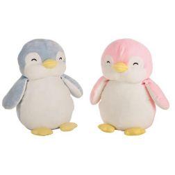 Pingüino Suave Rosa y Azul