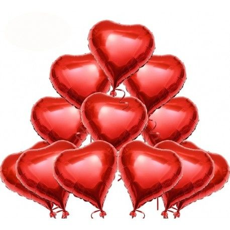 Globos Rojos Corazón