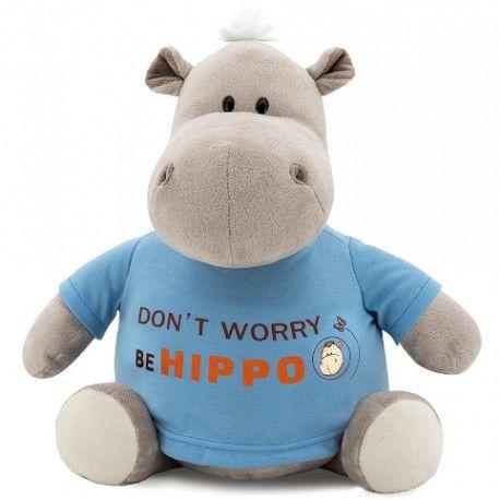 Peluche Hipopótamo con camiseta