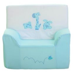 SILLON AZUL BORDADO 3 ANIMALITOS