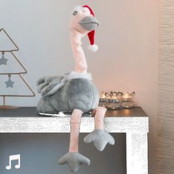 Peluche avestruz navideña