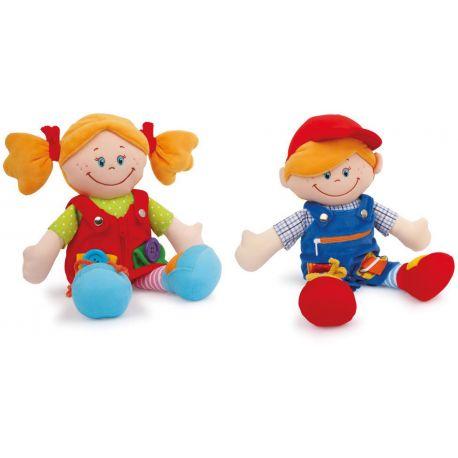 Muñecos Clara y Max
