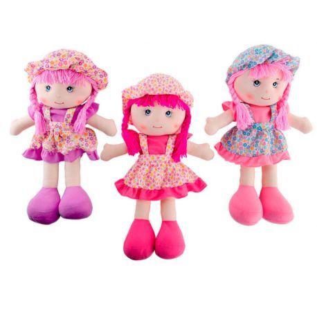 Muñecas con pichi de flores