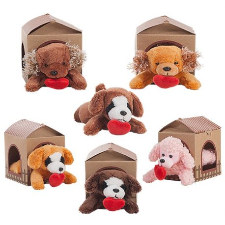 Mini perritos amorosos con casita