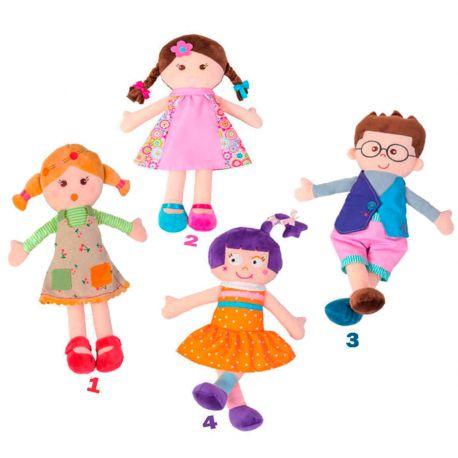 Muñecas de trapo colorines 40 cm