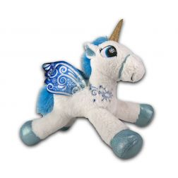 Peluche Unicornio blanco y azul