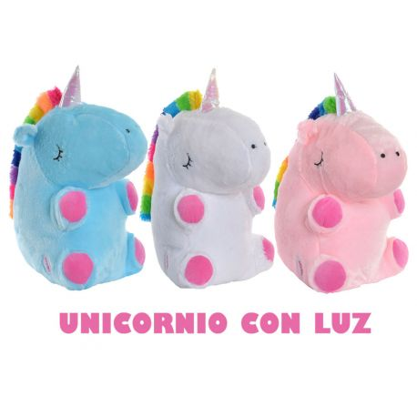 Peluche unicornio luminoso