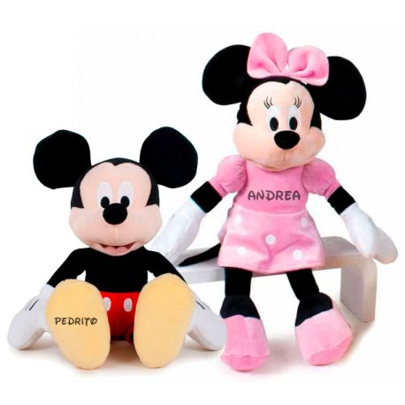 Peluches Minnie y Mickey Personalizados