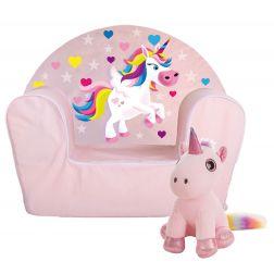 Sillón infantil Unicornio + Peluche