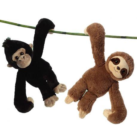 Gorila y Perezoso colgantes