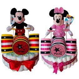 Tarta pañales personalizada de Disney