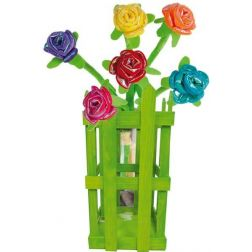 ROSAS BRILLANTES CON DISPLAY MADERA 40 CM