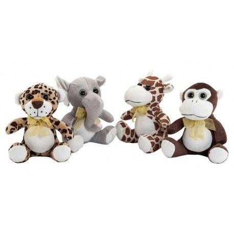 Conjunto 4 animales de la selva 20 CM.
